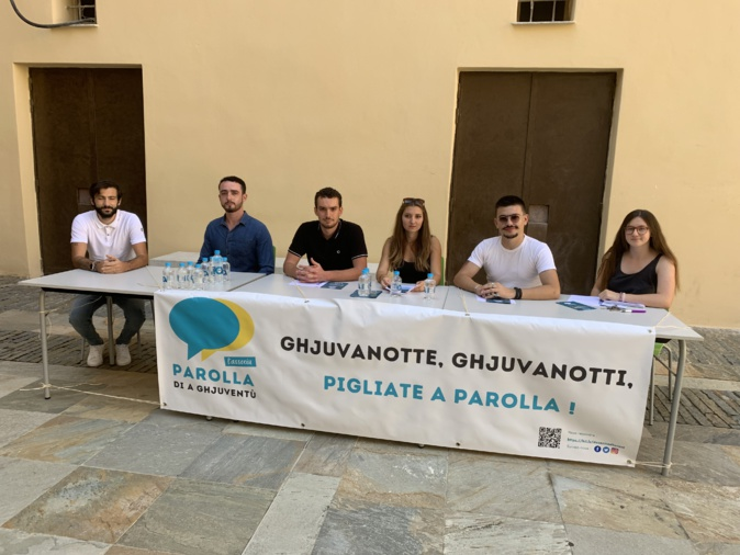 Olivier Huber, Mathieu Ricci, Samir Becherigui, Tess Meschini et Aude Faure ont présenté leur association