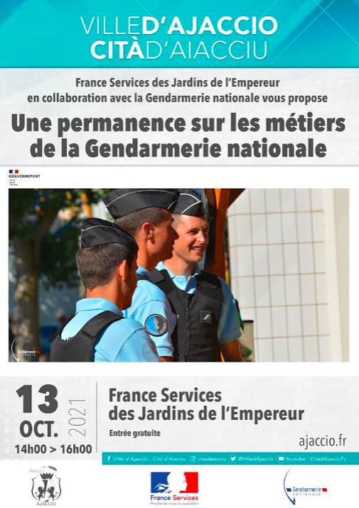 Ajaccio : Une permanence sur les métiers de la gendarmerie nationale aux Jardins de l'Empereur
