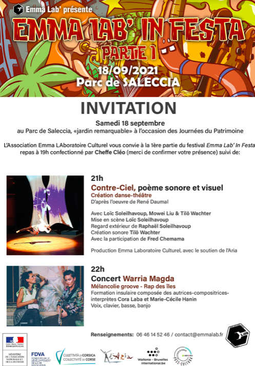 Parc de Saleccia : Emma Lab in festa ce samedi 18 septembre