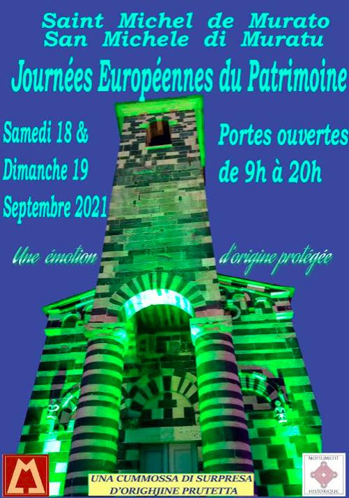 Le programme des Journées du Patrimoine à San Michele di Muratu