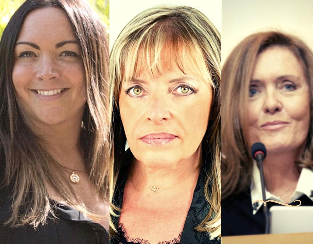 De gauche à droite : Vanina Borromei, Marie-Hélène Casanova-Servas, Muriel Fagni.