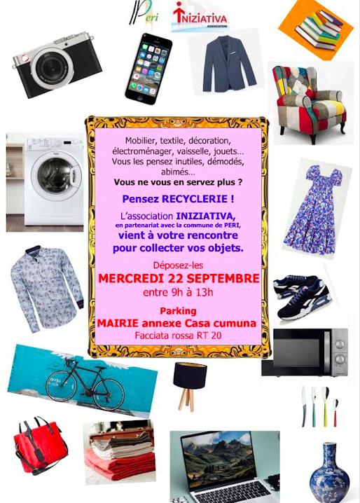 Peri : la recyclerie mobile Iniziativa vous donne rendez-vous le 22 septembre
