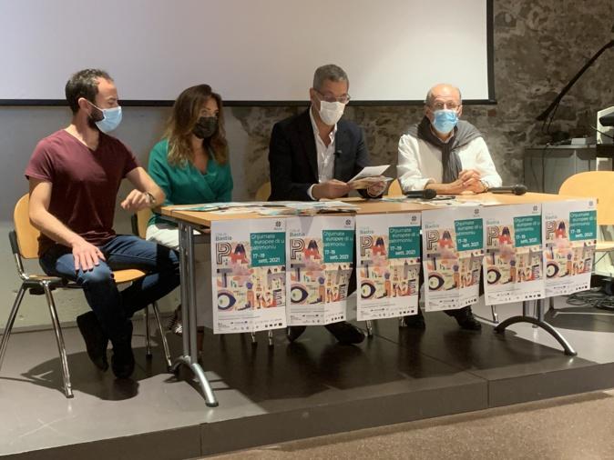 Jean-Toussaint Bartoli, Caroline Michel, Pierre Savelli et Philippe Peretti ont présenté les Journées Européennes du Patrimoine