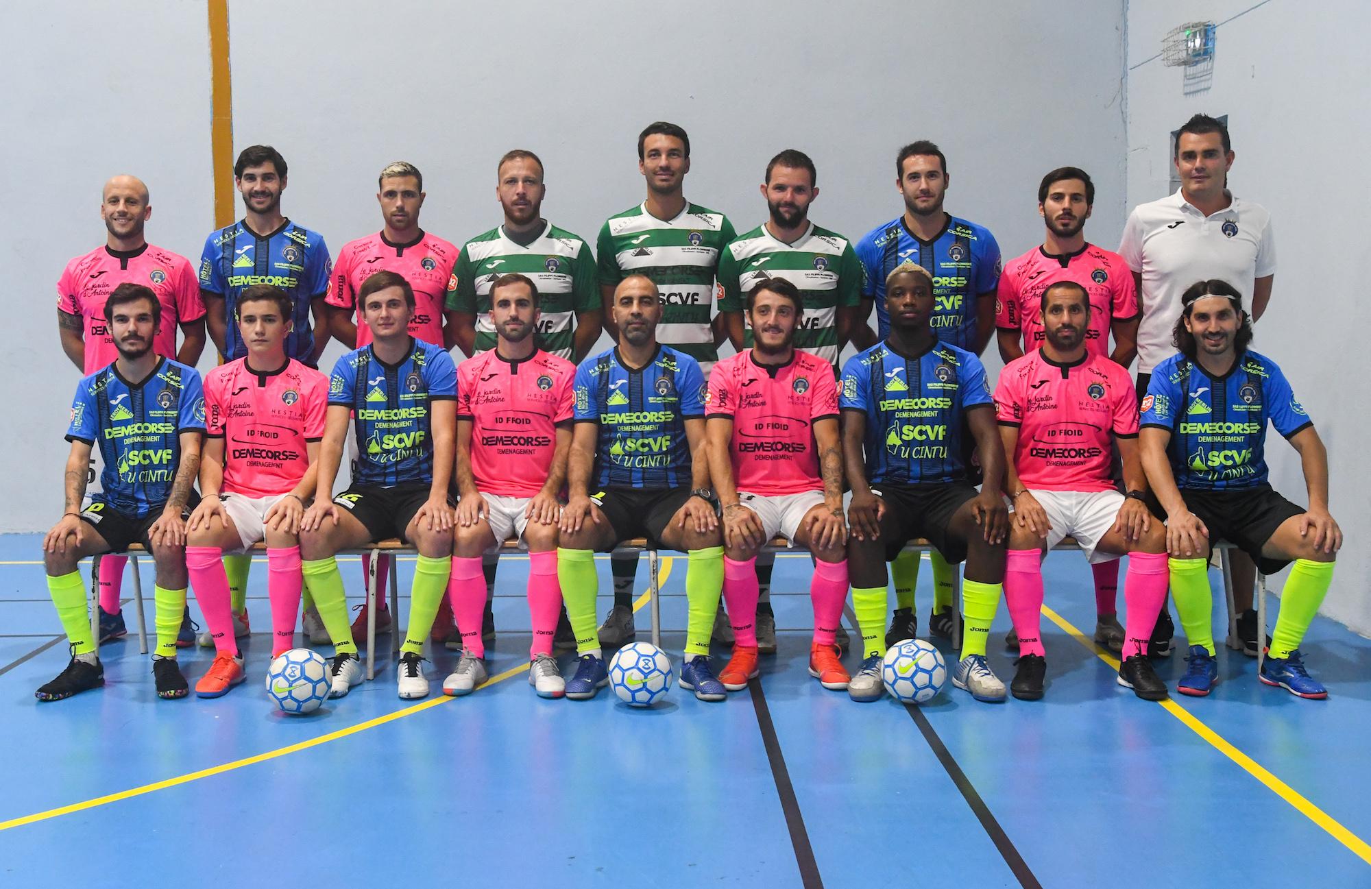 L'équipe de la saison 2021-2022 de Bastia agglomération Futsal.