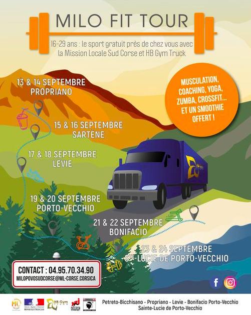 Avec le Gym Truck, la Mission Locale Sud Corse se déplace à la rencontre des jeunes