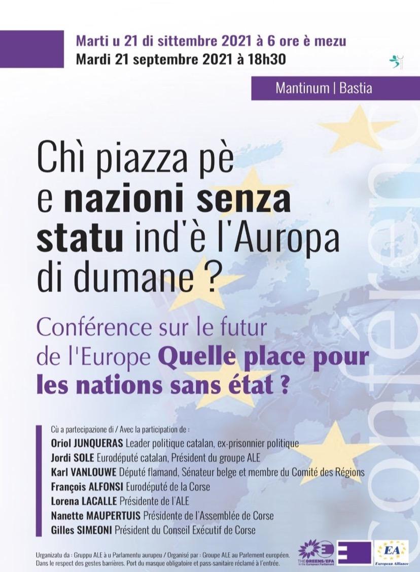 Bastia : Une conférence sur la place dans les nations sans État en Europe
