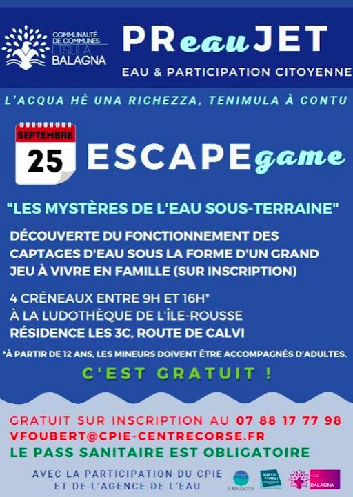 Lisula : un escape game sur les mystères de l'eau sous-terraine
