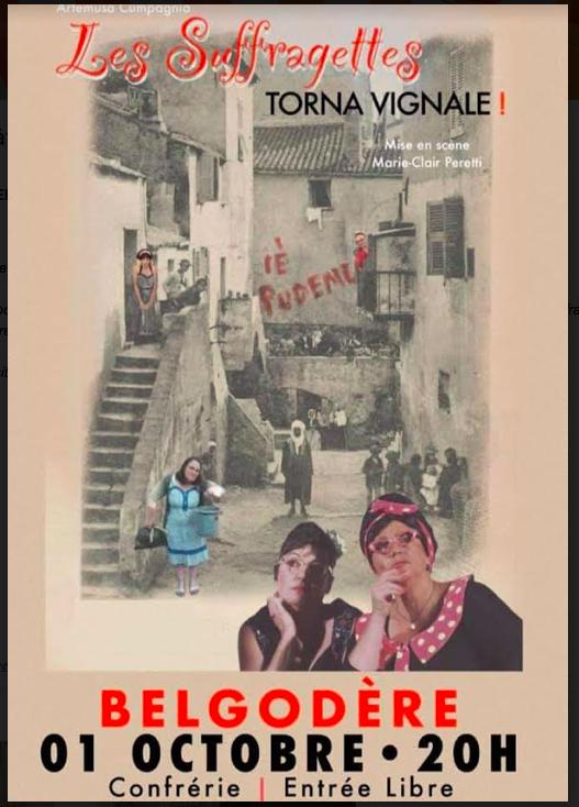 "Belgodere : ""Les Suffragettes, Torna Vignale"""