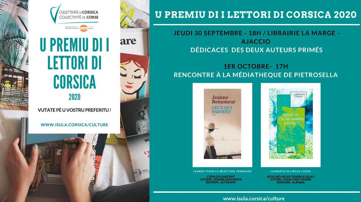 Ajaccio : les lauréats du  Prix des lecteurs de Corse 2020 à la libraire La Marge