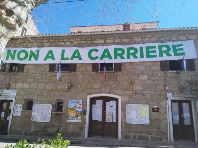 La mairie de Sainte-Lucie-de-Tallano s'oppose au projet de carrière. Photo : Jean Paul Panzani