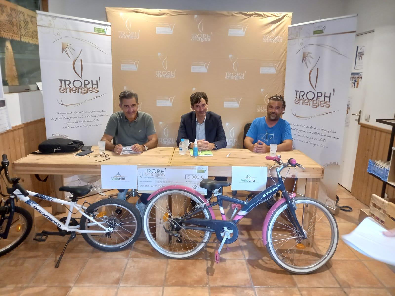 La conférence de presse  mercredi dernier dans les locaux de Velocità à Ajaccio