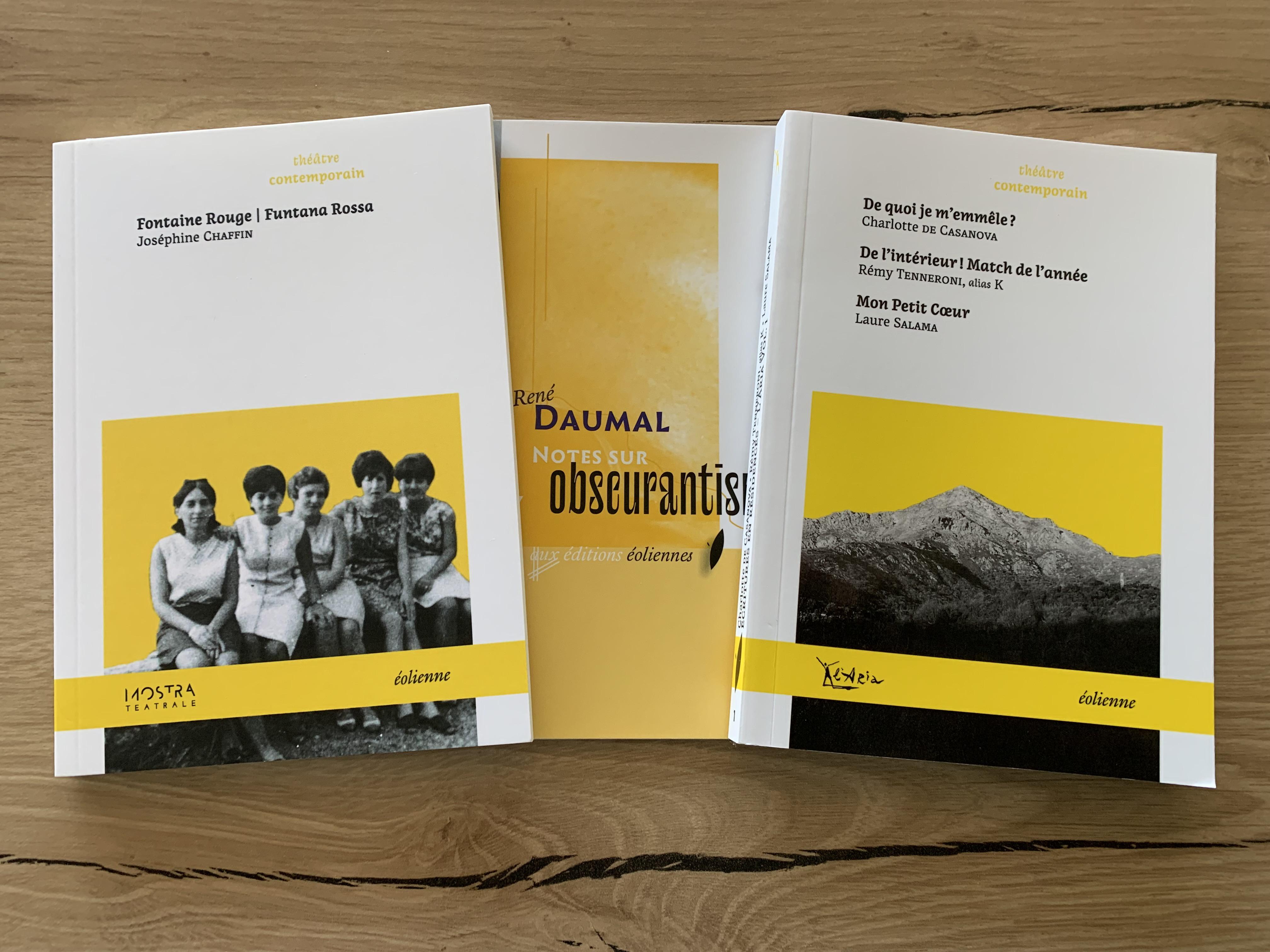 En cet automne 2021 belles et interessantes publications aux éditions Eoliennes