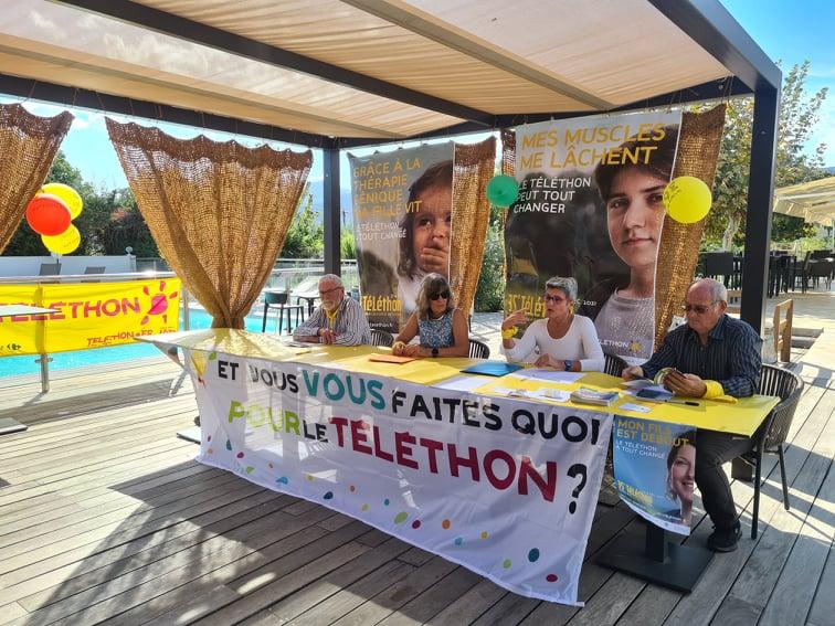 Les membres de l'AFM étaient rassemblés à Lucciana ce mardi 5 octobre pour lancer un appel aux organisateurs d'évènements. Crédits Photo : Pierre-Manuel Pescetti