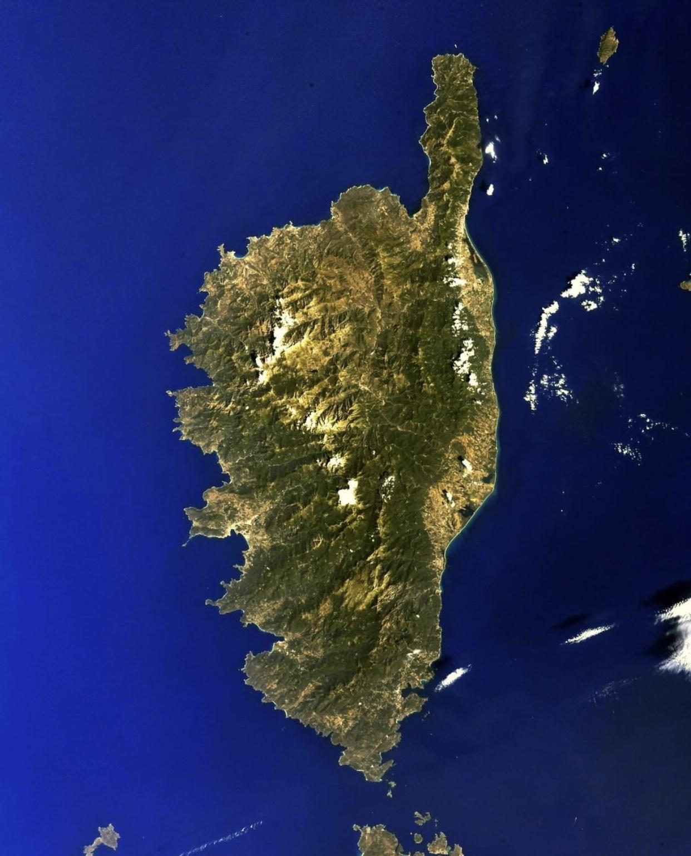La Corse vue du ciel par Thomas Pesquet