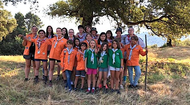 Les scouts de Saint-Jean pendant leur camp d'été 2021. Crédits Photo : groupe de scouts Bastia Saint-Jean