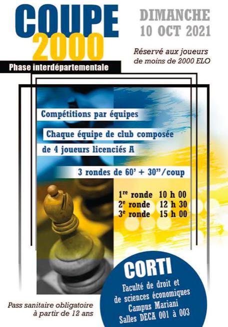 Echecs : ce dimanche à Corte la phase interdepartementale de la Coupe 2000