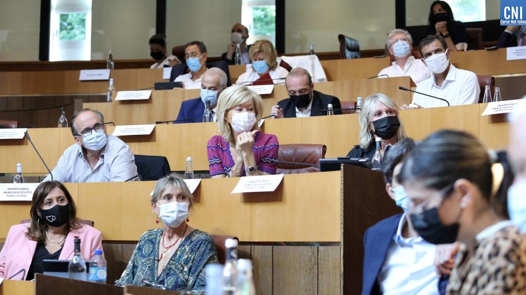 Le groupe de droite U Soffiu Novu à l'Assemblée de Corse. Photo Michel Luccioni.