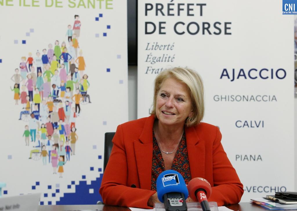 Brigitte Bourguignon à Ajaccio (Photos Michel Luccioni)
