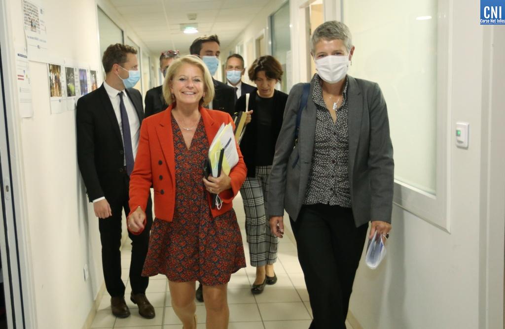 La ministre déléguée chargée de l'Autonomie Brigitte Bourguignon, au plus près des personnes âgées de Corse