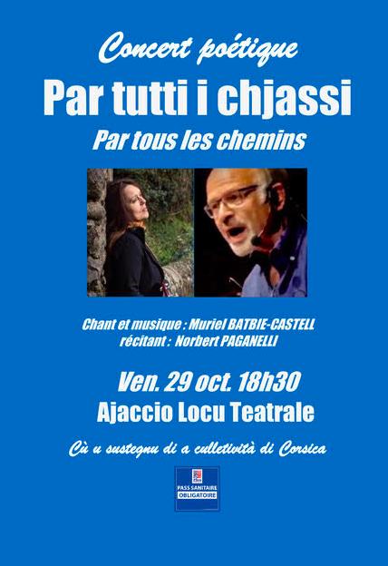 Ajaccio, Olmeto, Calacuccia : 3 concerts poétiques dans 6 langues de France