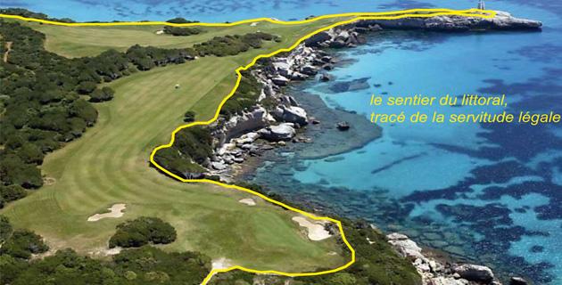 Golf de Sperone : Le sentier du littoral devra trouver sa place légale
