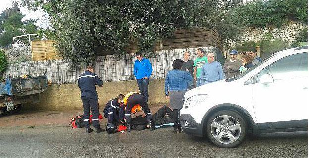 Ajaccio : Le motard sans doute sauvé par son casque
