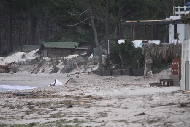 Tempête : Importants dégâts sur la plage de Calvi