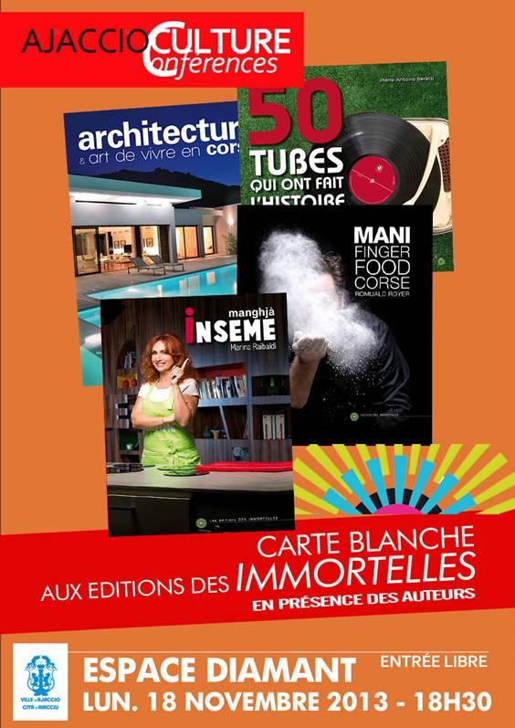 """Editions """"Les Immortelles"""",  dédicaces lundi à l'Espace Diamant"""