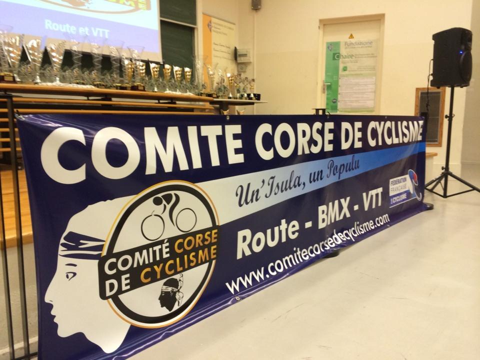 Le comité corse de cyclisme organisait ce dimanche à Corte la cinquième cérémonie de remise des challenges route et VTT (Photo SG)