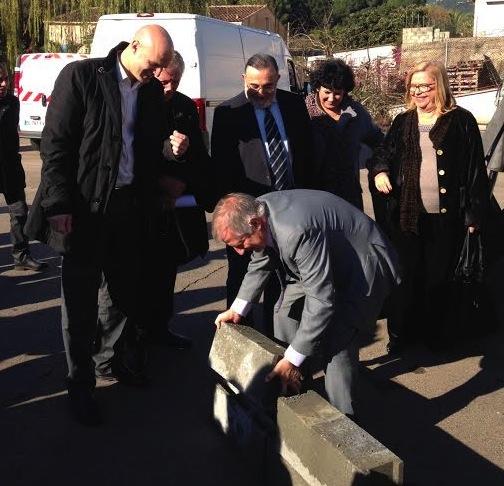 Crèche multi-accueil de Mezzavia : La première pierre