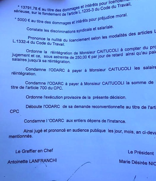 Portes closes pour Paul-Jo Caitucoli  à l'ODARC !