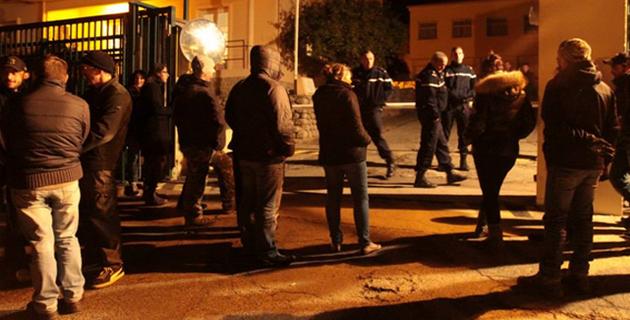 Les personnes transférées avaient été soutenues à Ajaccio. (Photo Marilyne Santi)