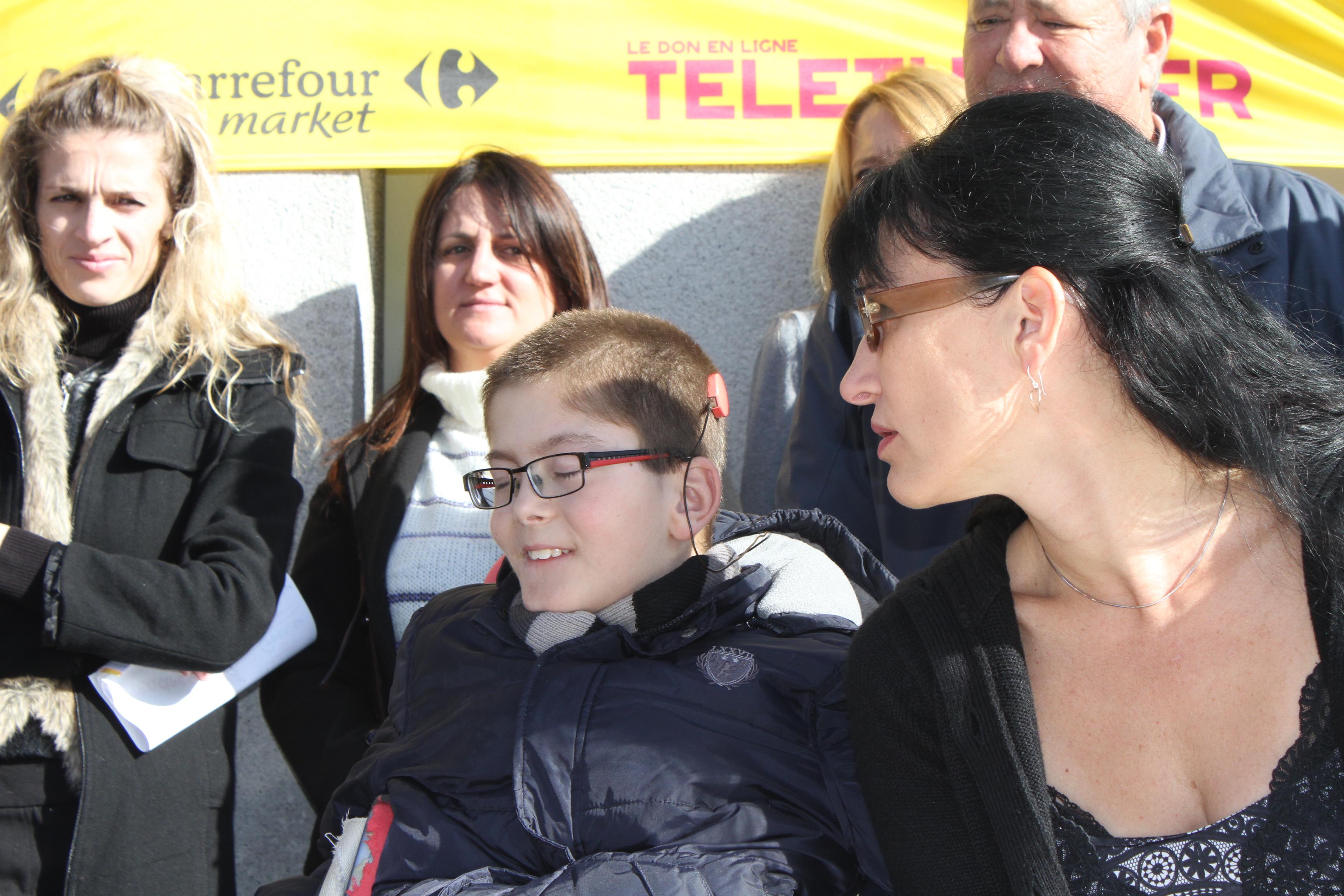 antoine Giammattei, 12 ans, parrain du Téléthon de Sarrola