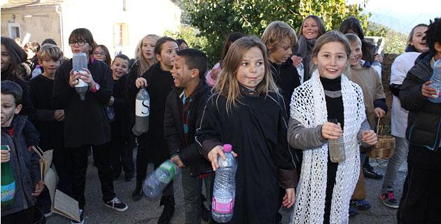 les élèves de l'école d'Appietto