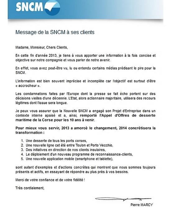 SNCM : Le directeur commercial tente de rassurer les clients de la compagnie...