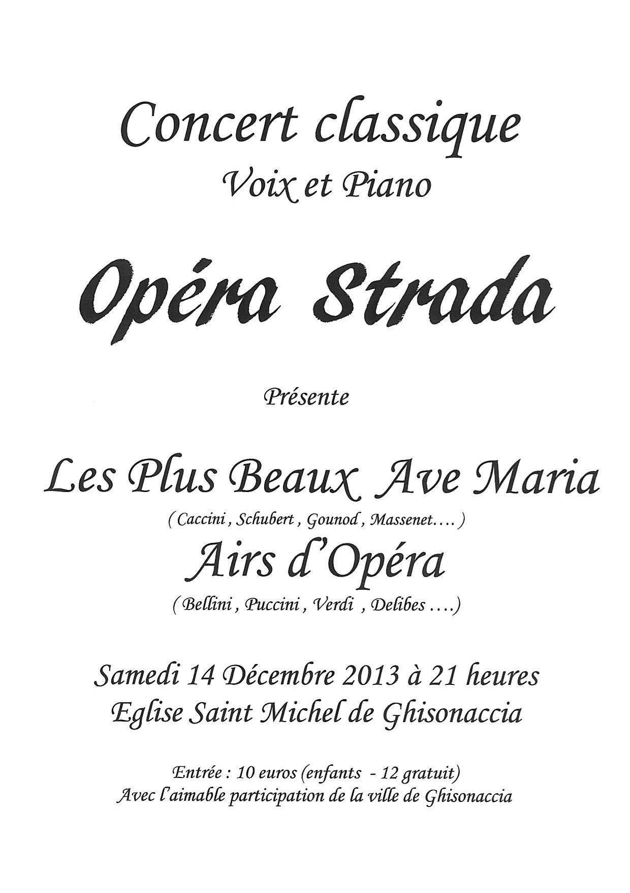 Un récital à ne pas manquer Samedi 14 décembre à L'Eglise Saint Michel de Ghisonaccia