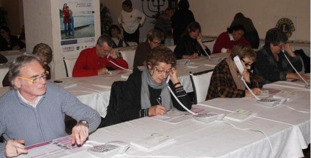 Mobilisation au centre d'appel de Calvi pour le Téléthon