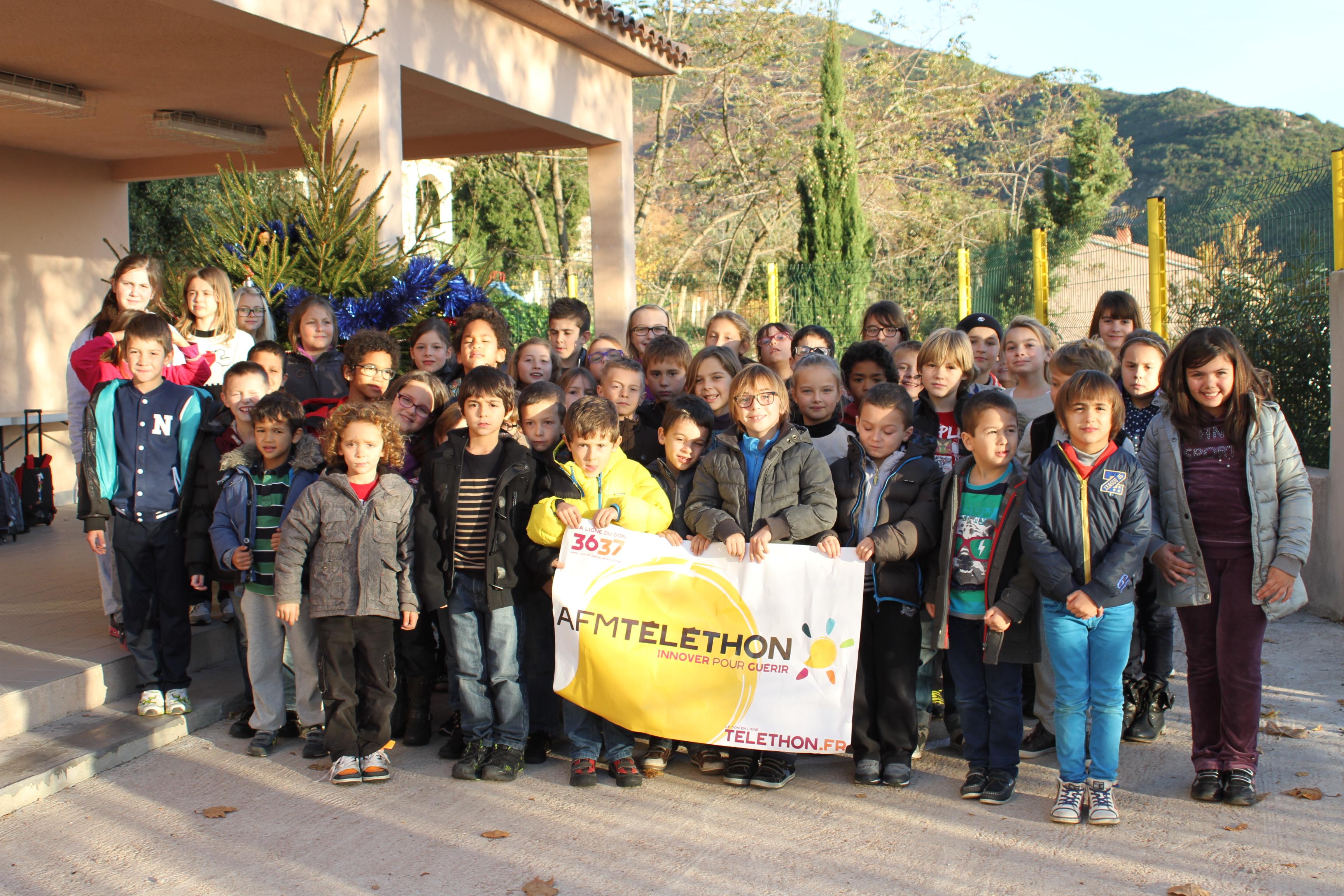 Les élèves de l'école élémentaire d'Appietto