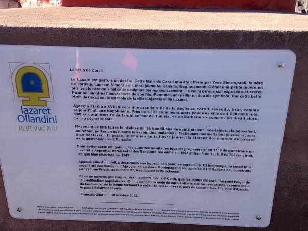 Inaugurée à Aspretto  La « Main de Corail » veille désormais sur Ajaccio