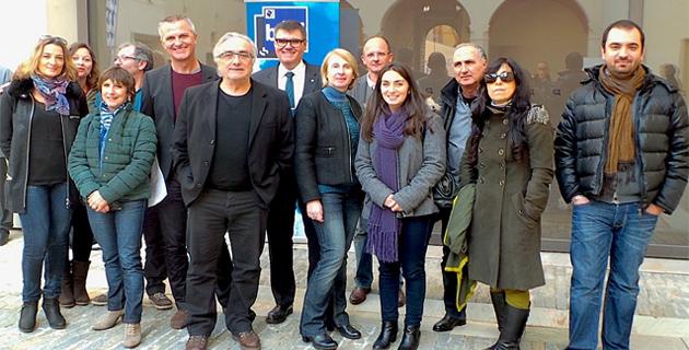 L'équipe de RCFM rassemblée autour de Hervé de Haro et Michèle Castellani