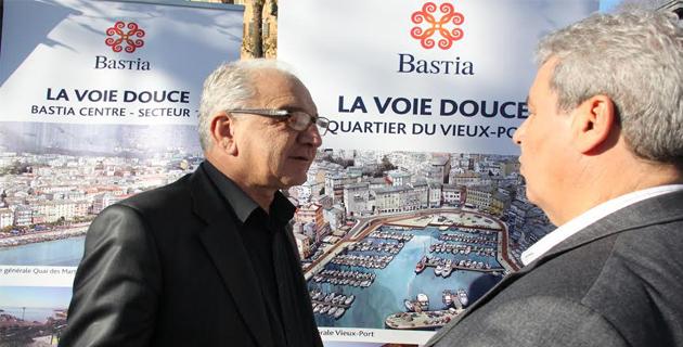Ange Rovere, premier adjoint et Vincenzo Circo, directeur des services technique de la Ville.