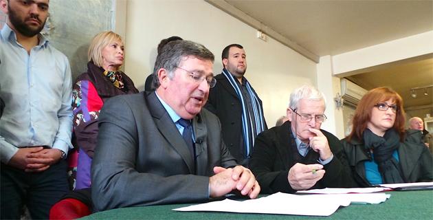 Jean-Louis Milani, René Pasquali et Marie-Pierre D'Ulivo