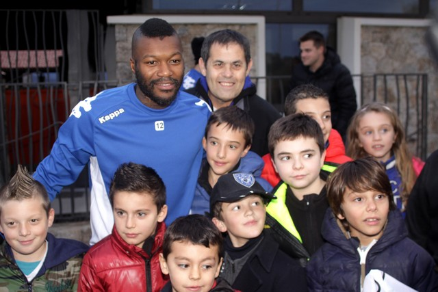 Le SC Bastia avec Djibril Cissé à Monticello