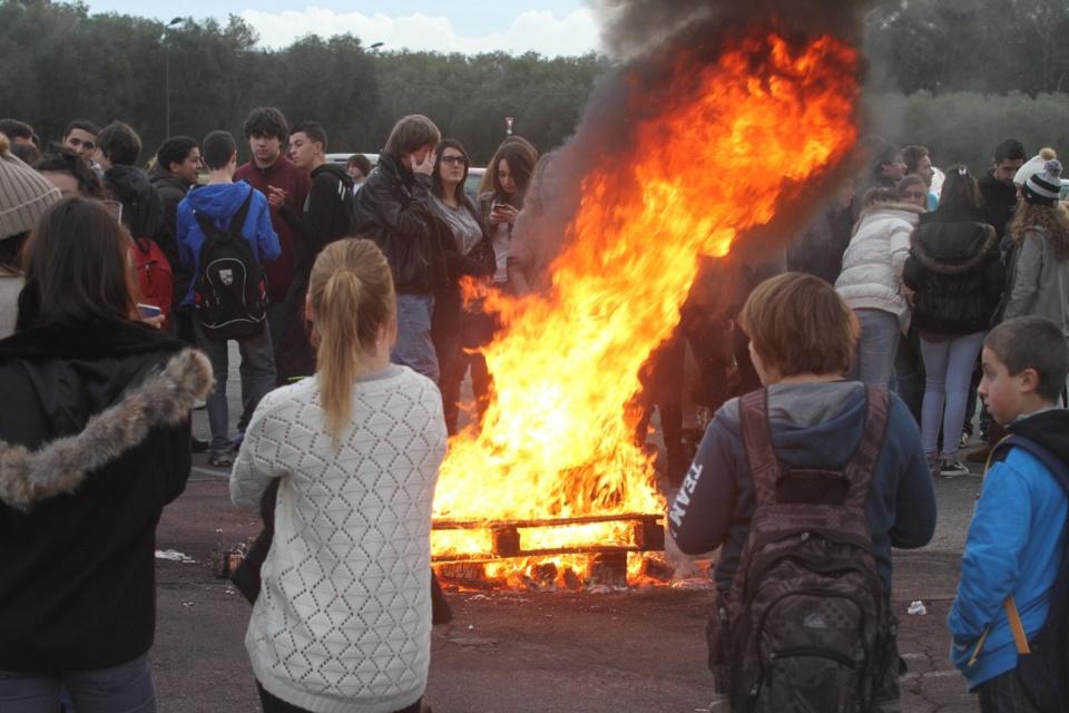 Nouvelle manifestation des lycéens du Fium'orbu