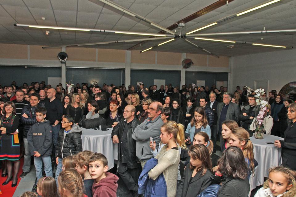 La population est venue en nombre assister à cette cérémonie des voeux 2014 (Photo Stéphane Gamant).