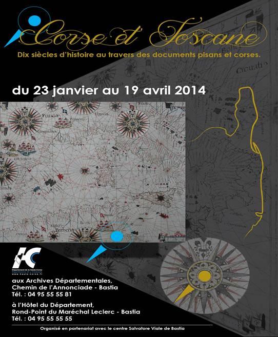 Exposition temporaire « Corse-Toscane : Dix siècles d'histoire au travers de documents pisans et corses »