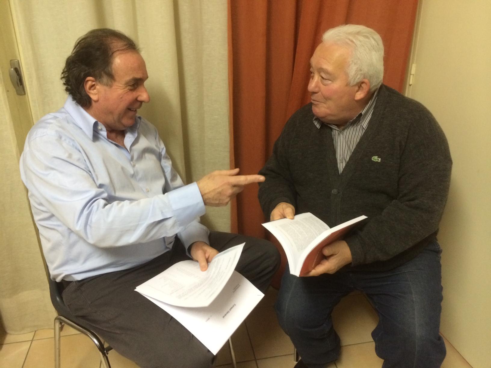 Jacques Billard et Pierre Santoni