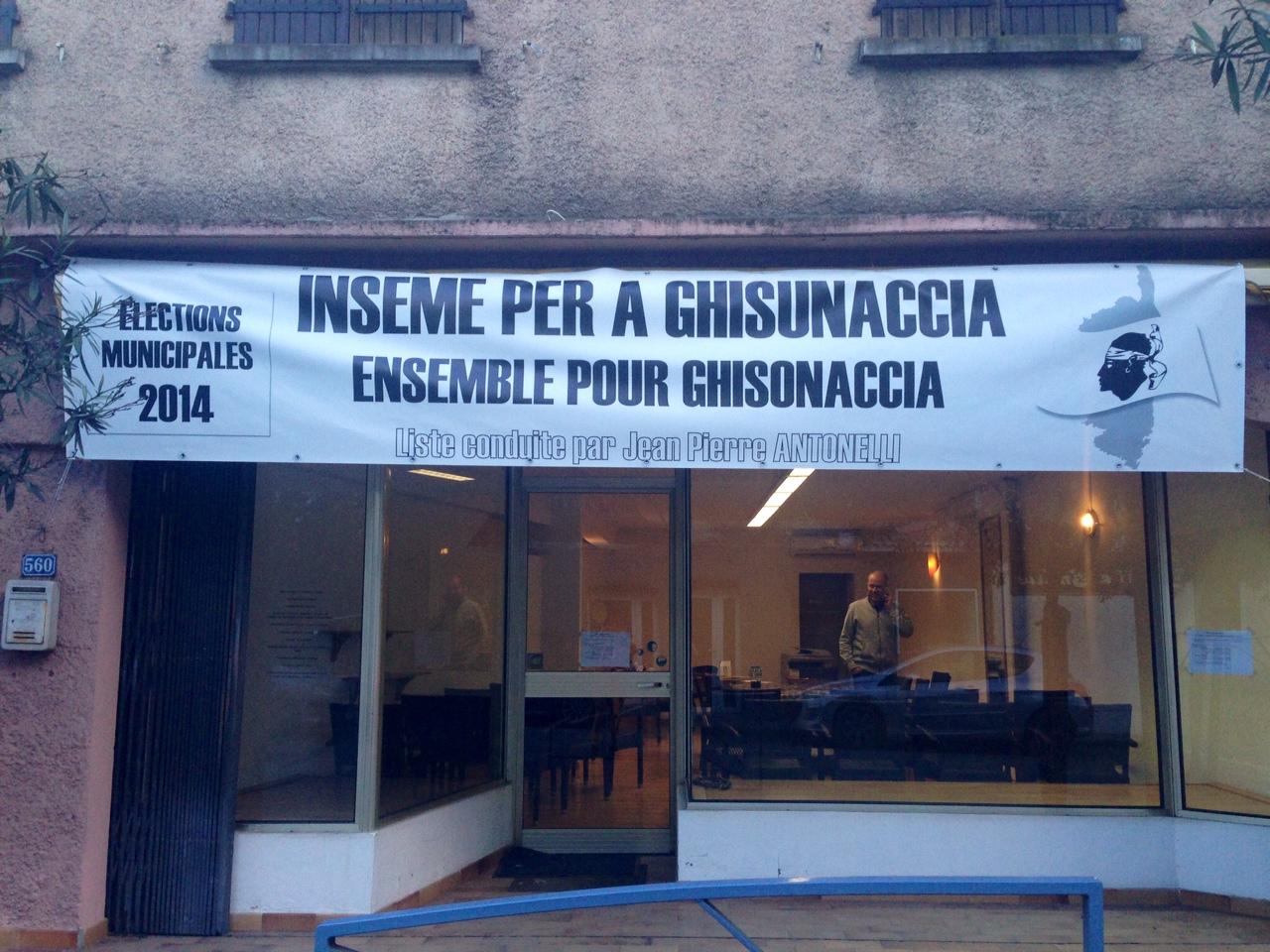 La permanence  Inseme per a Ghisunaccia est ouverte tous les jours à partir de 16 heures. (Photo Stéphane Gamant).