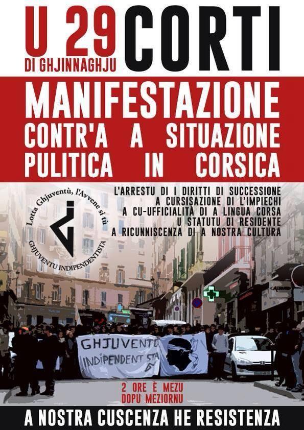 Manifestation de Corte : D'autres appels au rassemblement