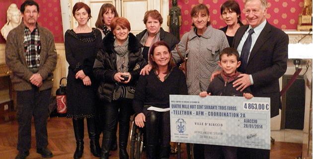 L'équipe coordinatrice 2A et les représentants de la marie d'Ajaccio avec Simon Renucci